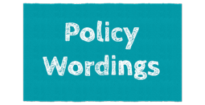 policy wordings