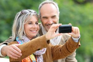 Couple - Tourist - Camera - Photo - Selfie - Mature- Senior