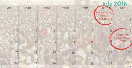 july festivals calendar paint