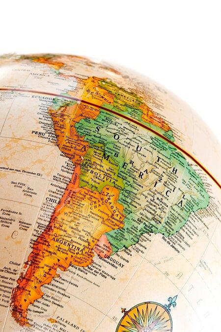 south america globe