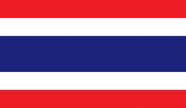 Thailand flag image for any design in simple style