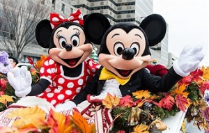 mickey and minnie mouse posing for a picture